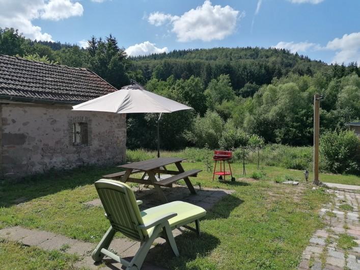 Location de vacances - Appartement à Herpelmont - Terrasse