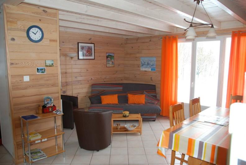 Location de vacances - Chalet à Saint-Léonard - Coin salon