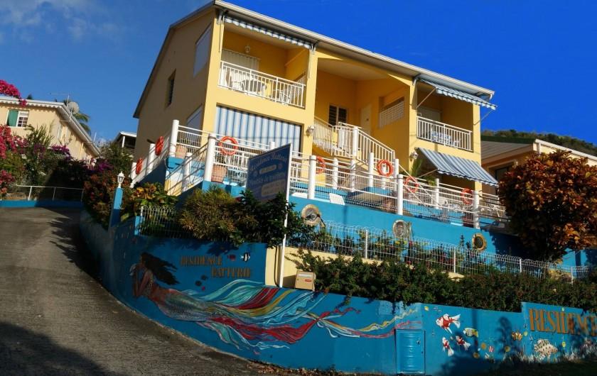 Location de vacances - Appartement à Les Anses-d'Arlet - Résidence Batterie, 7 appartements  (F2 et F4) à 200 mètres de la plage .