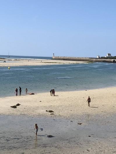 Location de vacances - Villa à Audierne - La pêche à pied dans l'entrée du port;