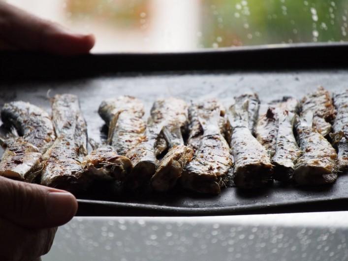 Location de vacances - Villa à Audierne - Des sardines grillées à la plancha, un vrai régal.