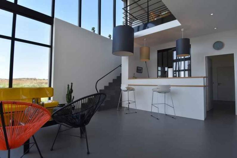 Location de vacances - Villa à Audierne - Ce deuxième salon avec un accès sur la terrasse
