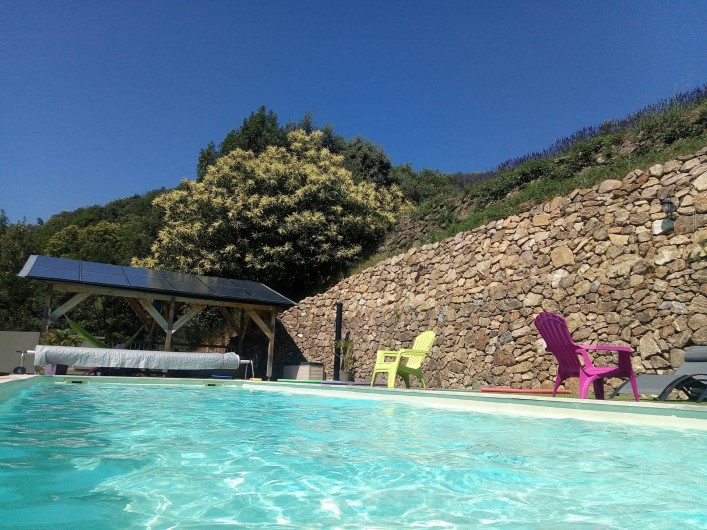 Location de vacances - Gîte à Chirols - la piscine