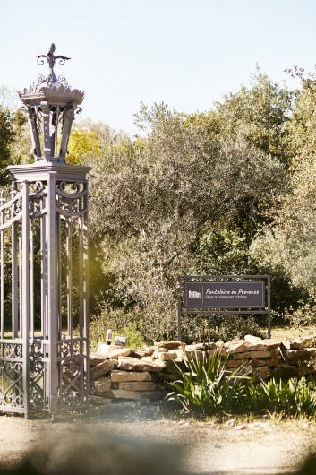 Location de vacances - Gîte à Uchaux - Le portail d'entrée