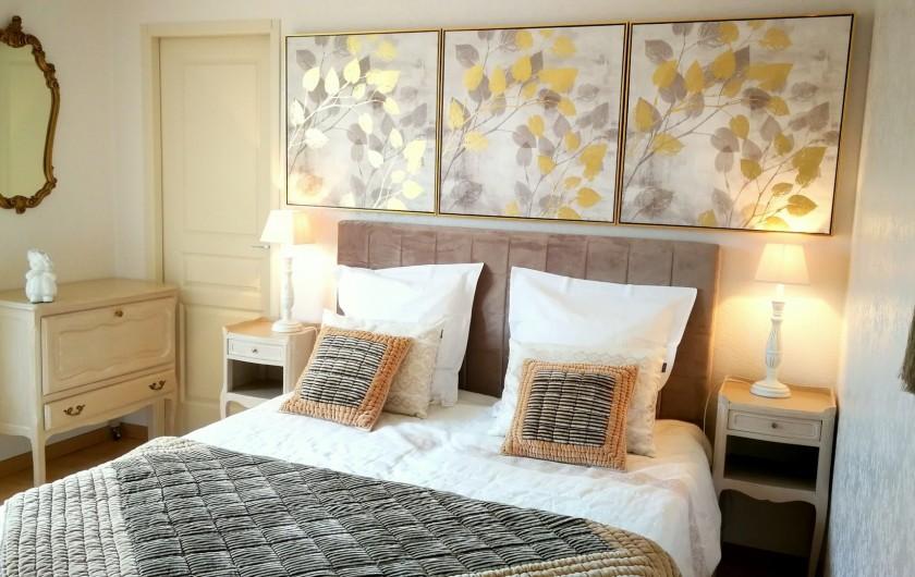Location de vacances - Gîte à Sancey-le-Grand - le lit grand confort, largeur 160 et possibilité de faire 2 lits séparés.