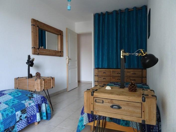 Location de vacances - Appartement à Aigues-Mortes - Chambre bleue