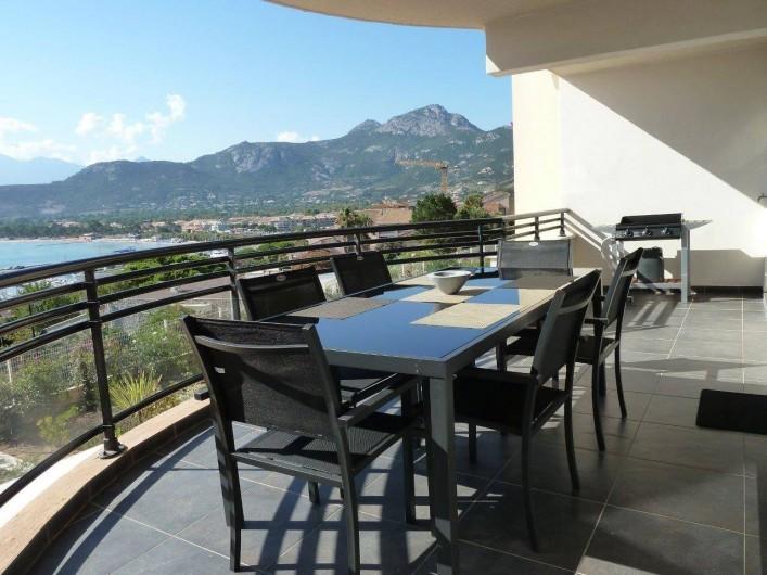 Location de vacances - Appartement à Calvi - Balcon Loggia 26 m²