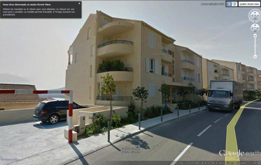 Location de vacances - Appartement à Calvi - Accès Avenue Santa Maria
