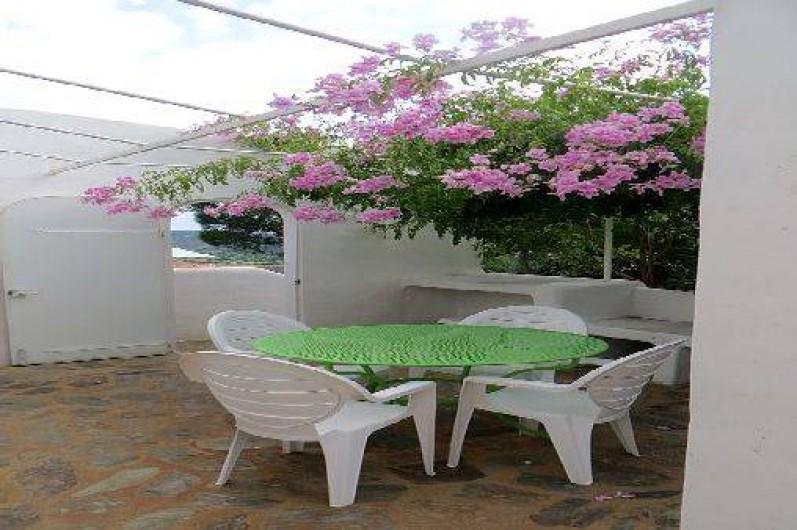 Location de vacances - Appartement à Banyuls-sur-Mer - première terrasse