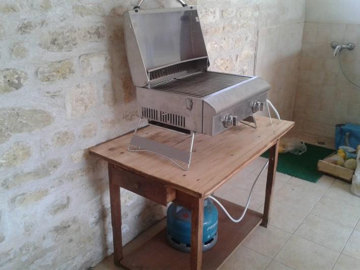 Location de vacances - Maison - Villa à Dolus-d'Oléron - la plancha sous le chai