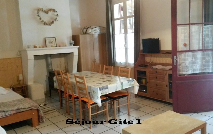 Location de vacances - Gîte à Saint-Vivien-de-Médoc - vue séjour gite 1