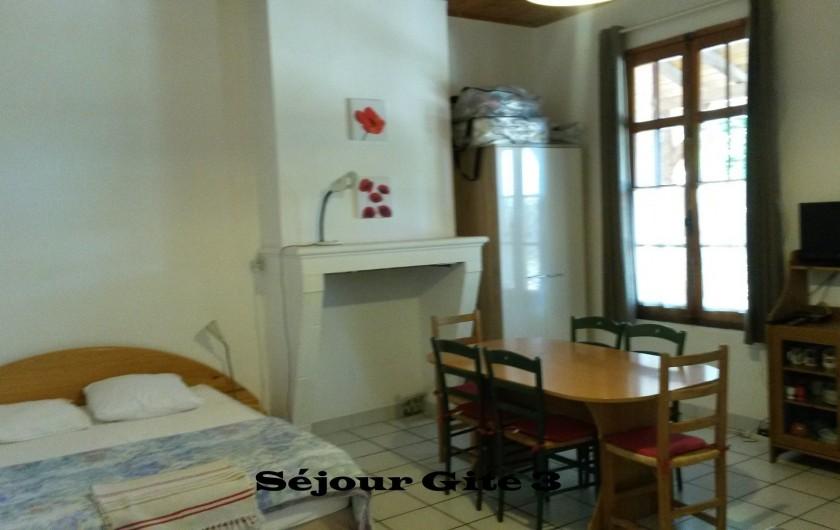 Location de vacances - Gîte à Saint-Vivien-de-Médoc - vue séjour gite 3