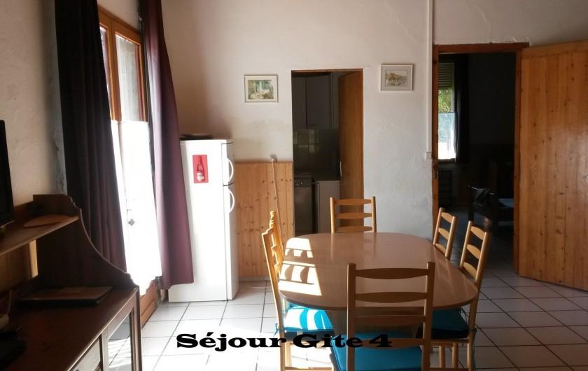 Location de vacances - Gîte à Saint-Vivien-de-Médoc - vue séjour gite 4