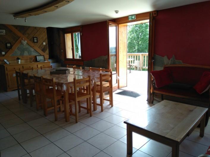 Location de vacances - Chalet à Saint-Maurice-sur-Moselle - OUVERTURE SUR TERRASSE PLEIN SUD