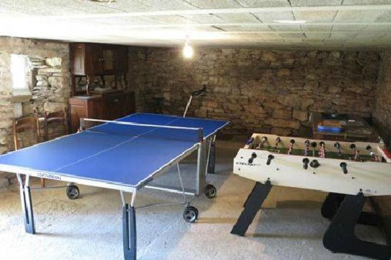 Location de vacances - Gîte à Saint-Pierre-de-Nogaret - Salle de jeux au sous-sol du gîte