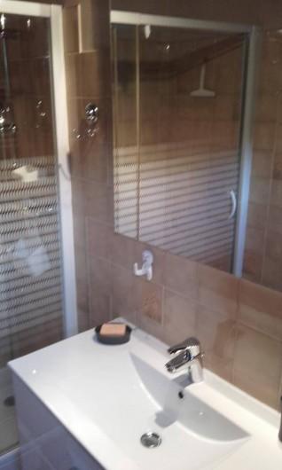 Location de vacances - Appartement à Le Grand-Bornand - salle de douche - vasque simple
