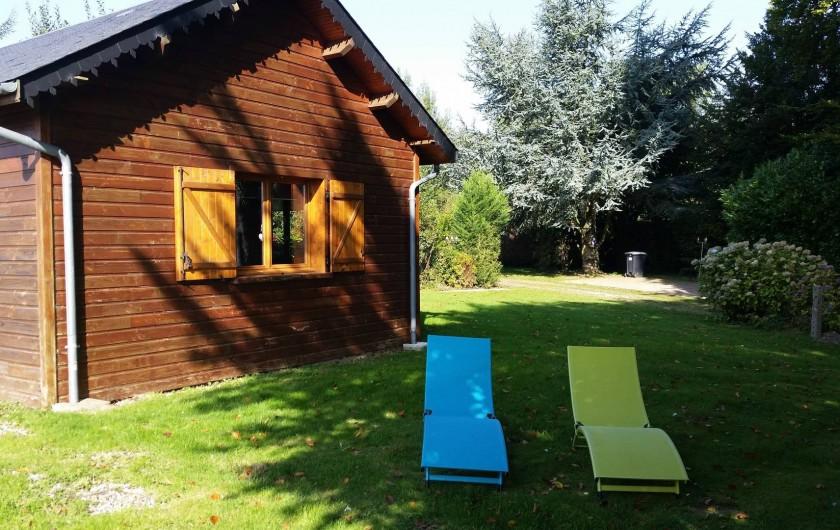 Location de vacances - Chalet à Grigneuseville - vue avant du gite