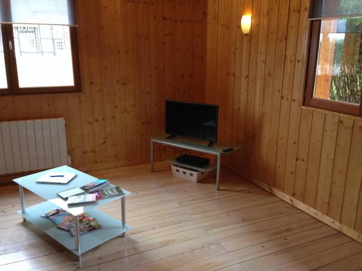 Location de vacances - Chalet à Grigneuseville - séjour avec télévision et lecteur dvd
