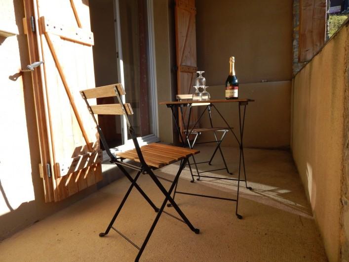 Location de vacances - Appartement à Loudenvielle - La terrasse de 9 M².