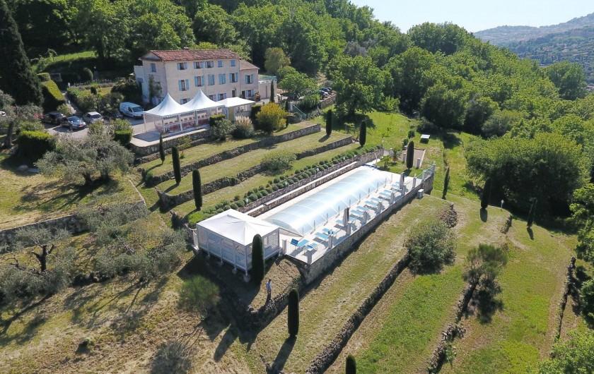 Location de vacances - Chambre d'hôtes à Grasse - Vue aérienne.