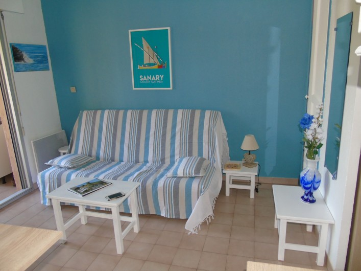 Location de vacances - Studio à Sanary-sur-Mer - Coin salon