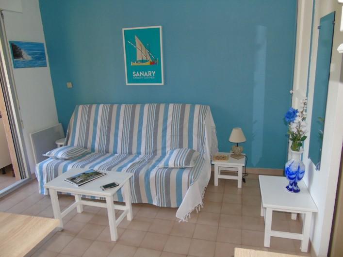 Location de vacances - Studio à Sanary-sur-Mer - Coin salon
