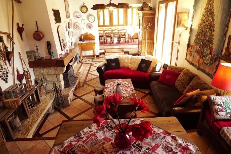 Location de vacances - Chalet à Les Deux Alpes - salon et salle à manger