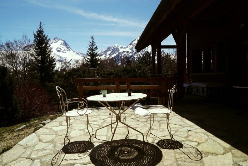 Location de vacances - Chalet à Les Deux Alpes - terrasse sud est