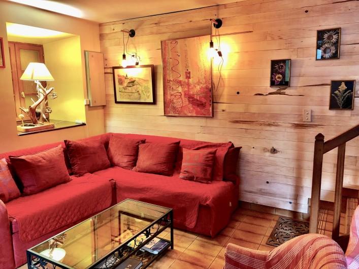 Location de vacances - Chalet à Vielle-Louron - espace salon