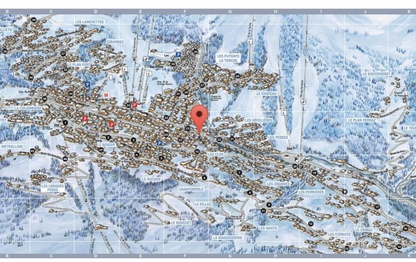 Location de vacances - Appartement à Les Gets - Plan de localisation