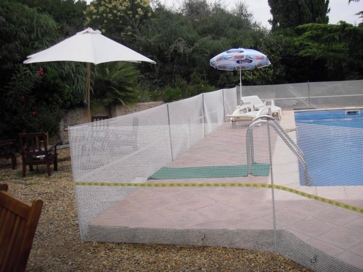 Location de vacances - Villa à Mandelieu-la-Napoule - possibilité de mettre un grillage de protection autour de la piscine si enfants
