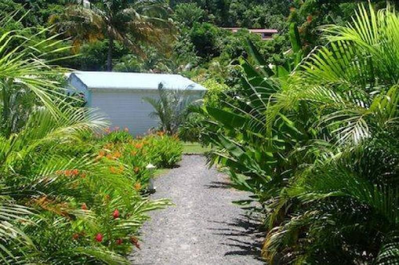 Location de vacances - Bungalow - Mobilhome à Deshaies - jardin