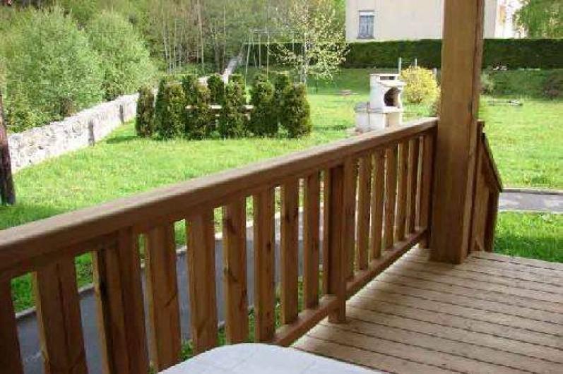"""Location de vacances - Gîte à La Bresse - Balcon terrasse du gite """"le lispach"""" -5 personnes. 2 Pièces (30 m2)"""