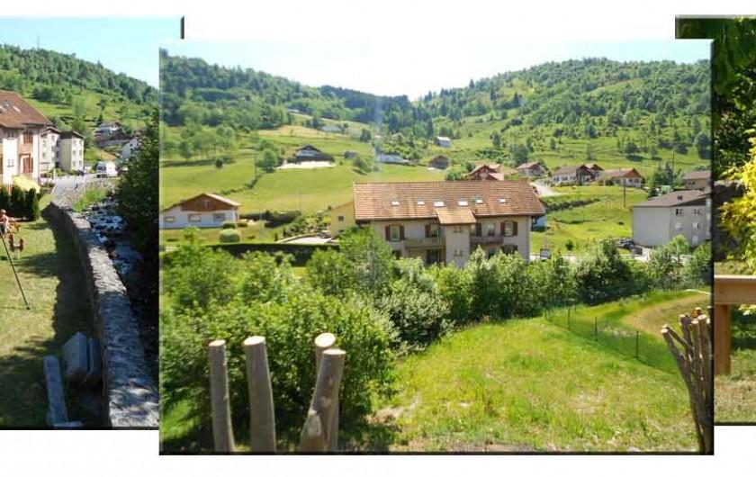 Location de vacances - Gîte à La Bresse - RESIDENCE DU CHAJOUX Vue été