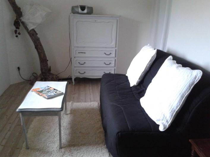 Location de vacances - Chambre d'hôtes à Pupillin - salon tv et bz 160