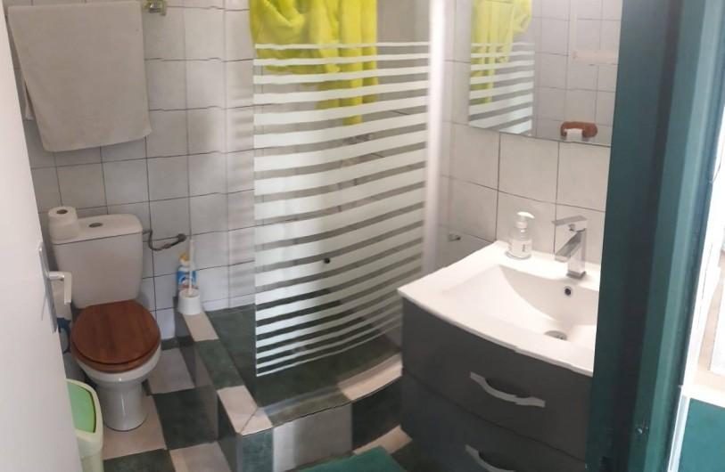 Location de vacances - Gîte à Sainte-Luce - Salle d'eau et wc TROPICAL