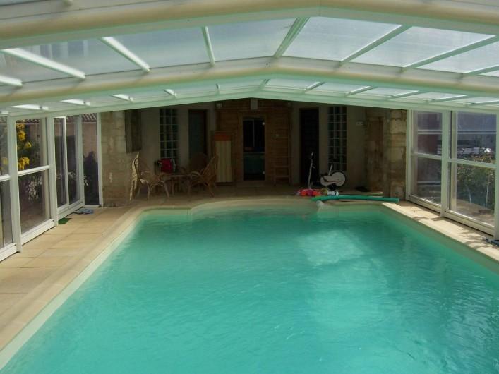 Location de vacances - Gîte à Sainte-Blandine - piscine chauffee du 1/04 au 31/10