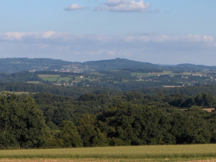 Location de vacances - Gîte à Saint-Bonnet-de-Cray - Vue  sur les monts du haut Beaujolais.
