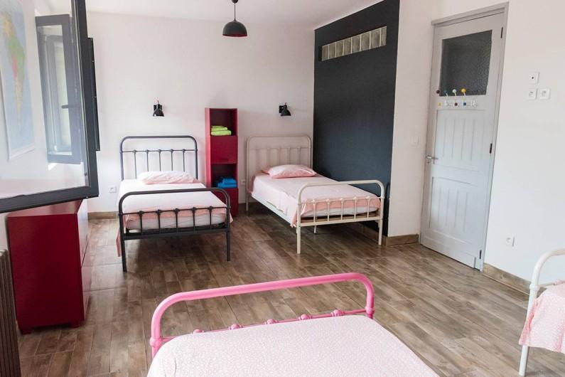 Location de vacances - Mas à Vauvert - Chambre enfants 4 lits en 90 cm