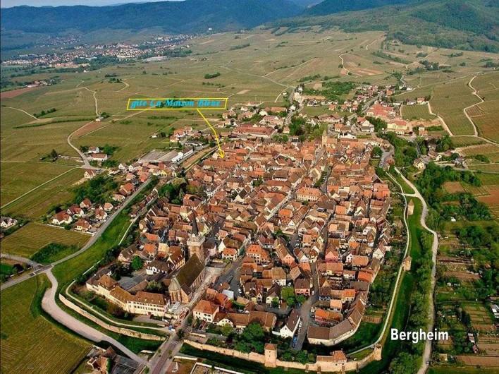 Location de vacances - Gîte à Bergheim - Vue aérienne de Bergheim