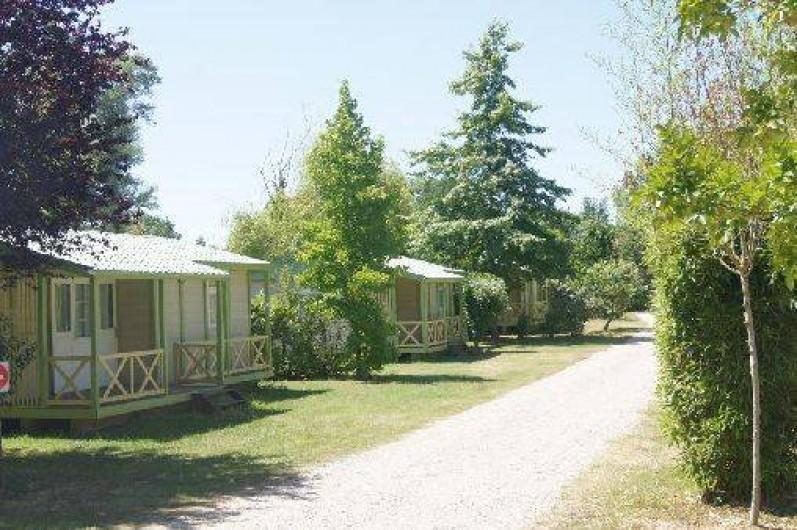 Location de vacances - Camping à Damiatte - chalets bois dans le camping