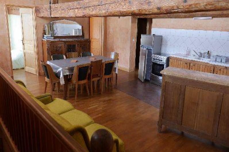Location de vacances - Gîte à Saint-Vincent-de-Mercuze - Grand salle du gîte
