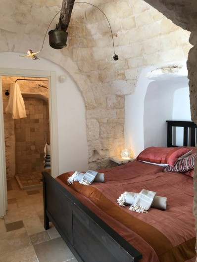 Location de vacances - Villa à Ostuni - Chambre pour deux dans le trullo