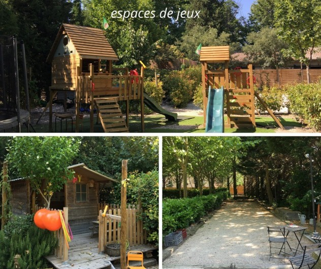 Location de vacances - Mas à Saint-Rémy-de-Provence - Coin jeu des enfants au mas des Pampres