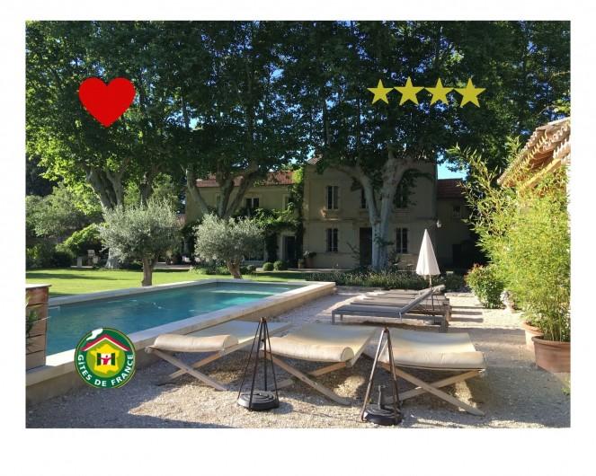 Location de vacances - Mas à Saint-Rémy-de-Provence - Mas des pampres, 4 étoiles, Label Gîtes de France