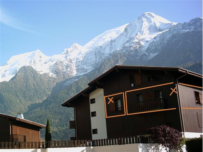 Location de vacances - Appartement à Les Houches - VUE SUR L AIGUILLE DU MIDI