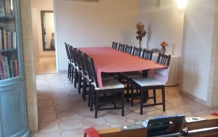 Location de vacances - Gîte à Huillé - Salle à manger