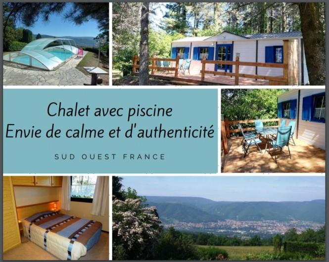 Location de vacances - Chambre d'hôtes à Pont-de-Larn - Le chalet indépendant de 4 à 6 personnes.  PRIX variable selon saisons.