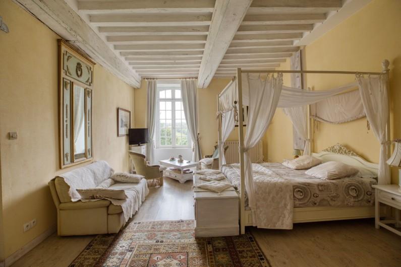 Location de vacances - Château - Manoir à Poligné - Chambre Blanche Hermine