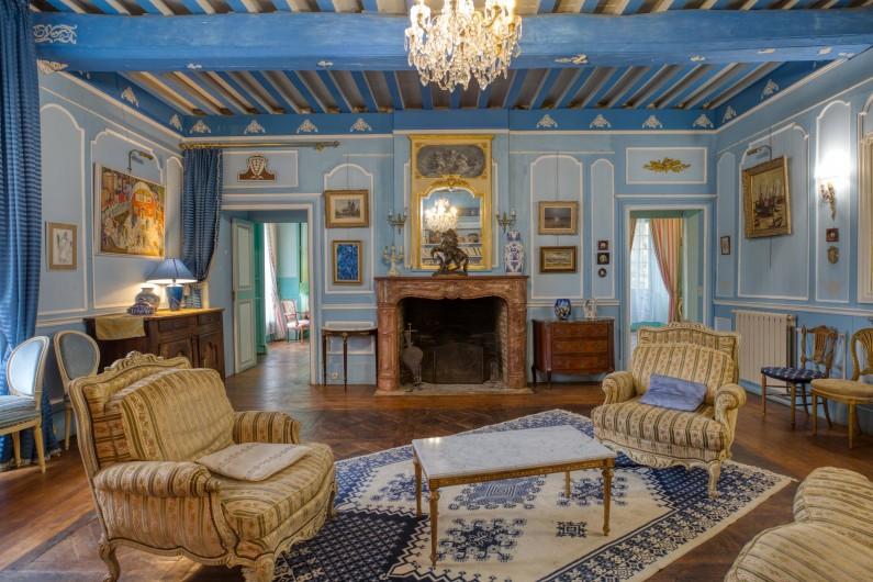 Location de vacances - Château - Manoir à Poligné - Salon bleu